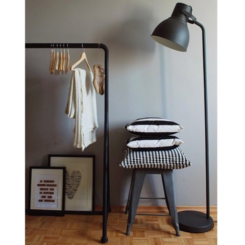 Ikea Hektar Floor Lamp In Matte Black Purchased A Year Ago Depop