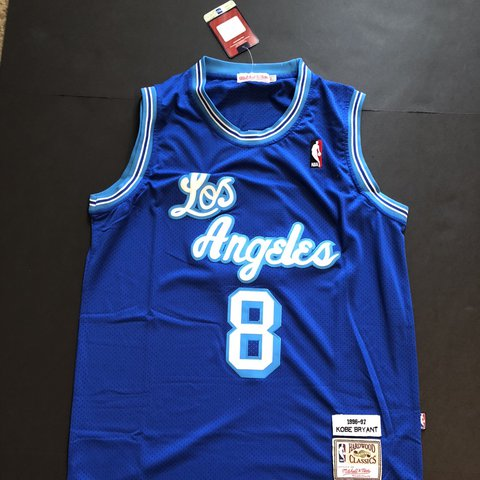 34249e12a NBA throwback Kobe Bryant LA Lakers Jersey! Blue colorway to - Depop