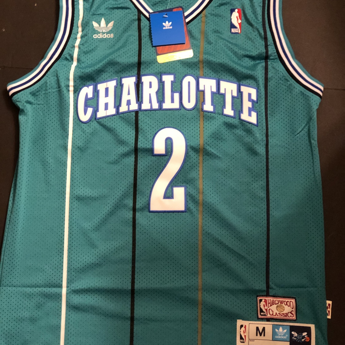 low priced a6678 505d7 NWT Throwback Basketball Jersey LARRY JOHNSON 2 ...