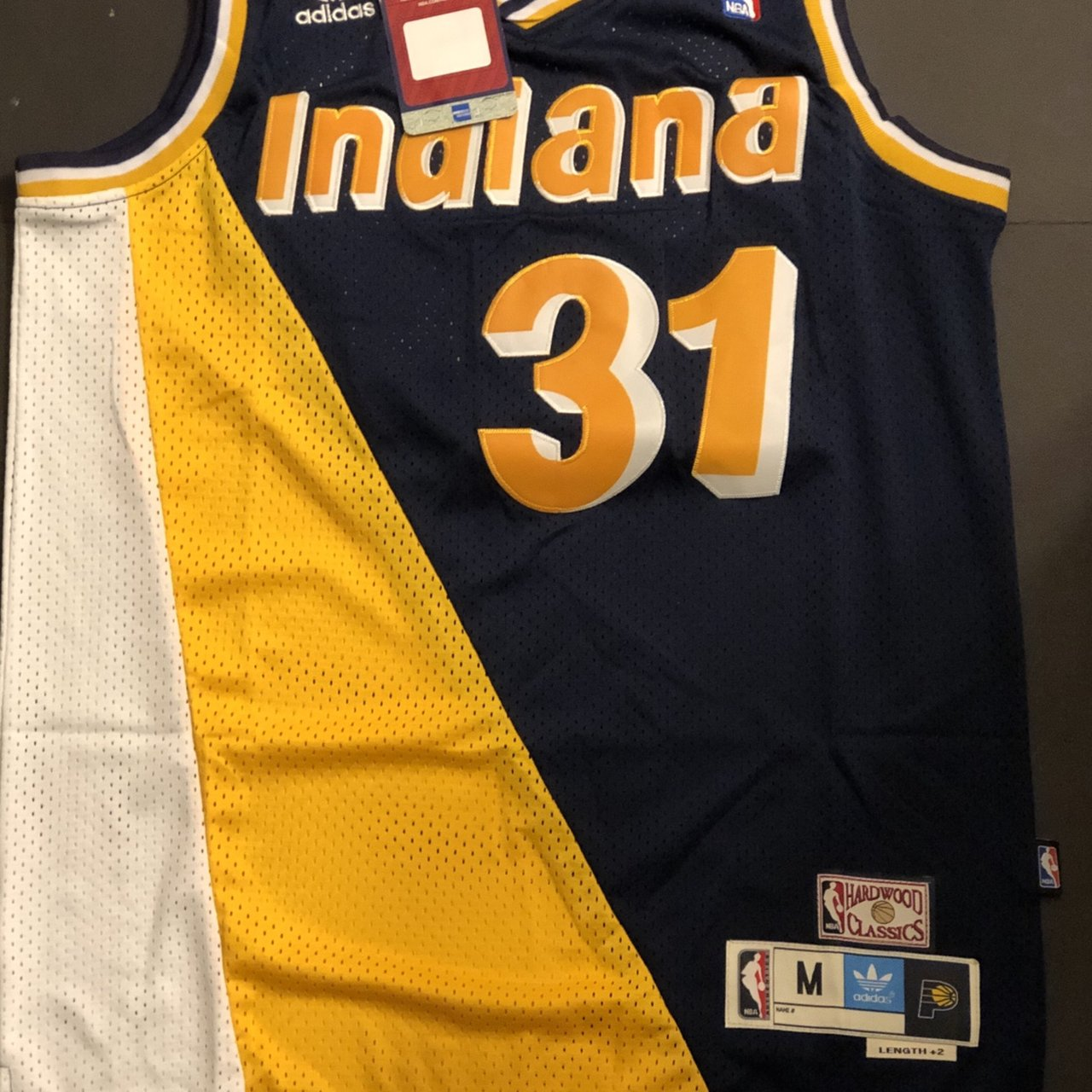 f940fb3c8c4 @throwedthreads. 11 days ago. Grand Prairie, United States. Had another one  of these as well. Throwback Basketball Jersey REGGIE MILLER 31 Indiana  Pacers ...
