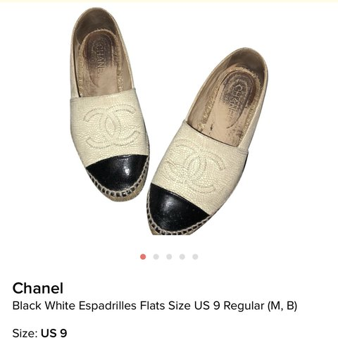 7a7148db7 Chanel espadrilles in used condition . They are still in The - Depop