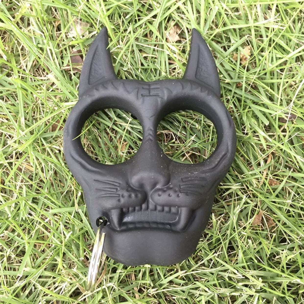 Black Cat Self Defense Keychain Brand New Made Depop