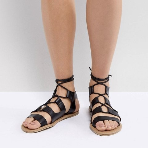 7b7634aa9b2e South beach black gladiator sandals