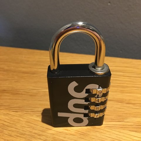 f3c7424e016f Supreme Combination Lock 100% authentic Rare accessory me - Depop