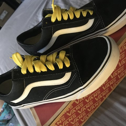 985323f856 Black and white vans for sale perfect condition only worn to - Depop