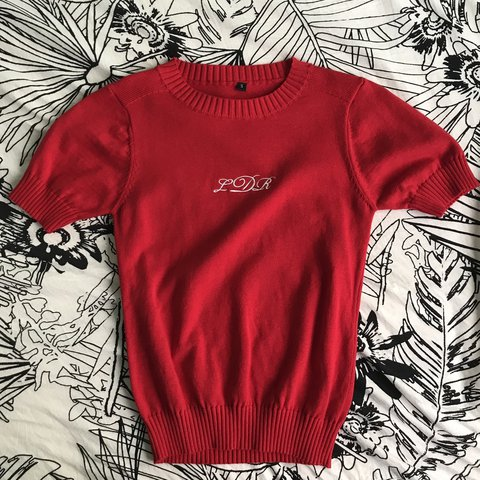 Lana Del Rey Red Knit Sweater Never Worn Purchased On Depop