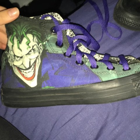 7e9dc4bc32c8 Worn once in box DC Converse Joker shoes - limited edition - - Depop
