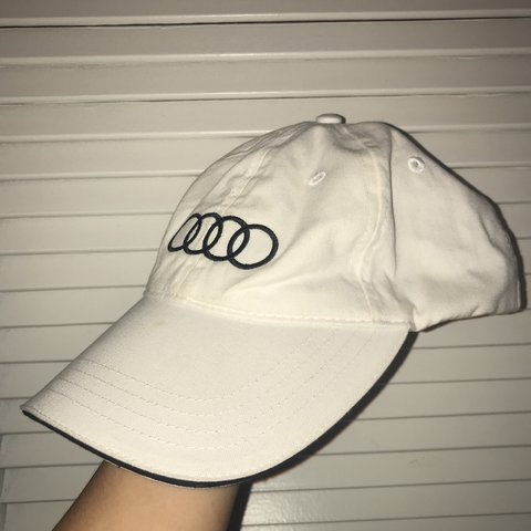 1735e490e6e57 vintage audi dad cap - black lining in the hood with black - Depop