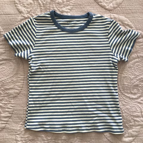 346ba1af02 @maryywang. 4 days ago. Irvine, United States. Blue and white striped tee  from Brandy Melville