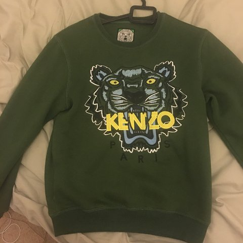 93f3033f Kenzo jumper Khaki green Excellent condition No defects or - Depop