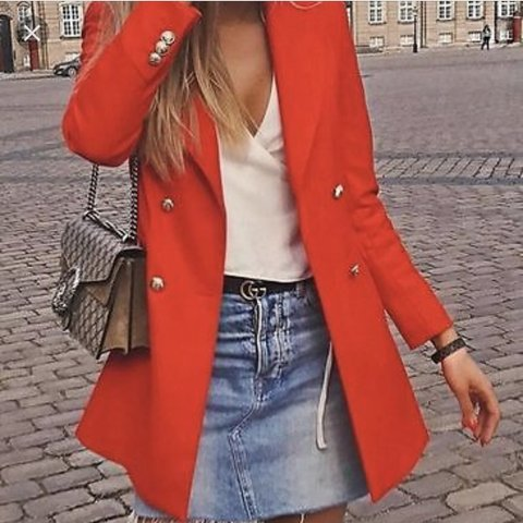 b1a5f8bf7c Zara Red Blazer Dress Size s. Worn once in excellent Double - Depop