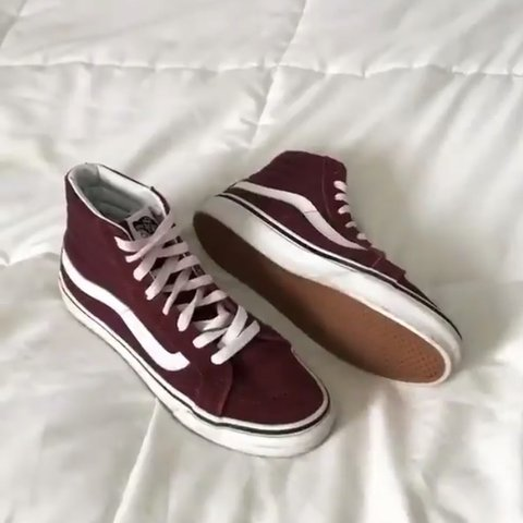 9508c24d9f unisex burgundy red sk8-hi VANS ‼ conditon  perfect! will - Depop