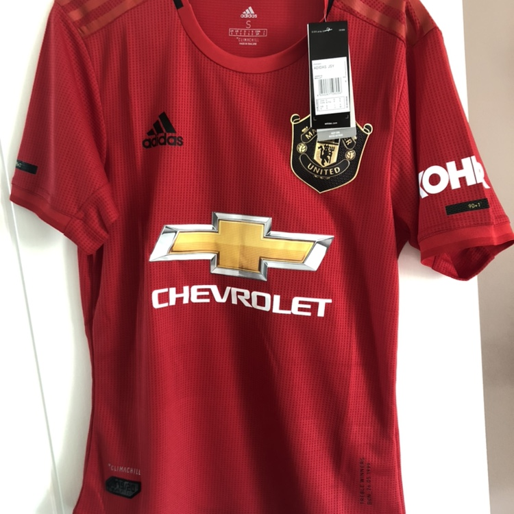 quality design 2b3a9 70178 NEW Manchester United 2019/20 Authentic Home Shirt ...