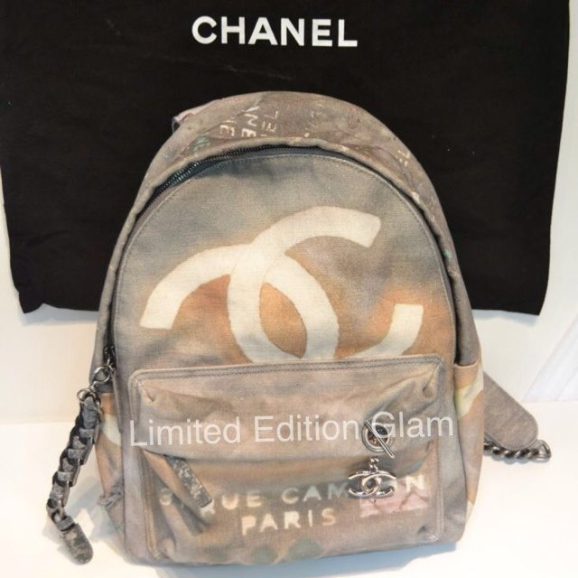 Chanel graffiti backpack 2014 runway collection! Brand new - Depop 424dacacf4c