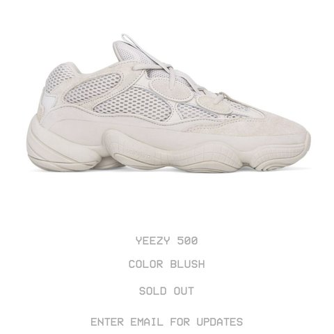 7bb746f6f19b7 Brand new  Yeezy 500 Blush  size US 9.5
