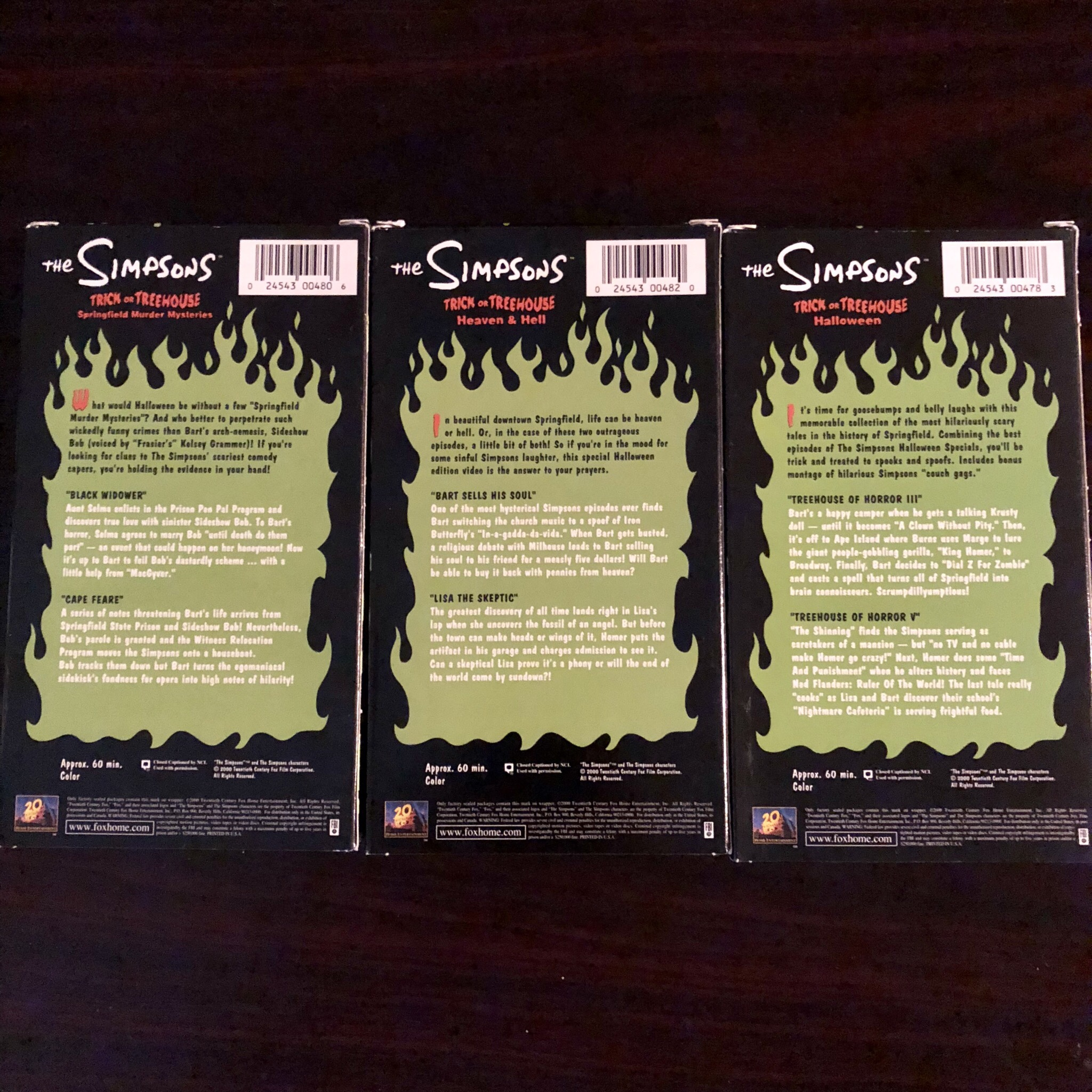 Simpsons Treehouse of Horror VHS TAPES - message for    - Depop