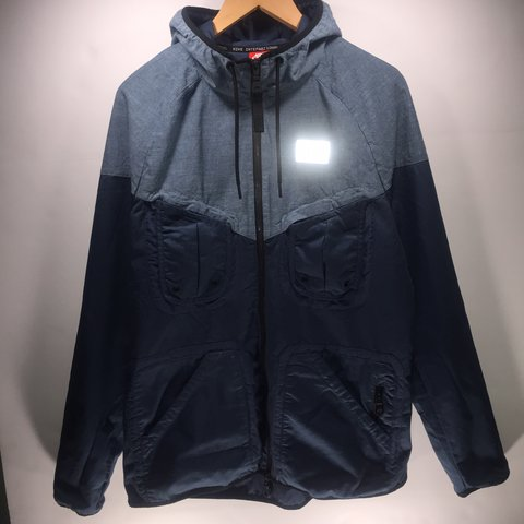 Men s Nike International Windrunner Jacket Squadron Blue - Depop d20ae05fc7