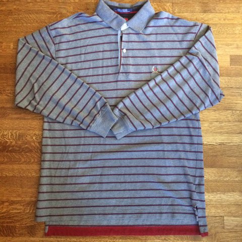 3eb30ab27 Vintage Tommy Hilfiger long sleeve polo Fits true to size me - Depop