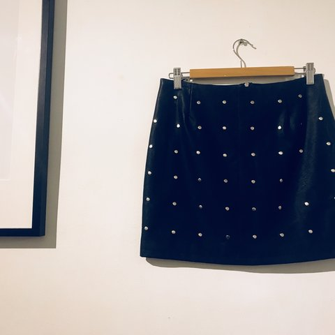 a38143f8d5 @katecairney. 11 months ago. Penrith, Australia. Glassons studded faux  leather skirt. Pre owned. Never worn, in good condition. Black faux leather  mini ...