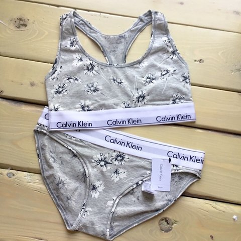 43e03f5c240d @juleztuff. 9 months ago. Quincy, United States. Calvin Klein Bra & Panty  Floral Modern Cotton Set Size medium and size small ...