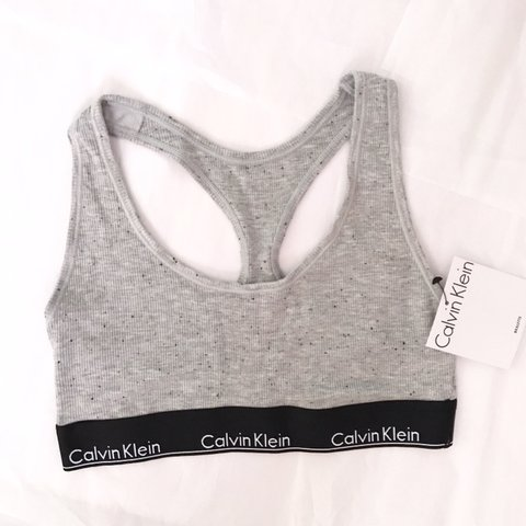 bc98b166f43a @juleztuff. 5 months ago. Quincy, United States. New with tags never worn  size small Calvin Klein modern cotton gray bra ...