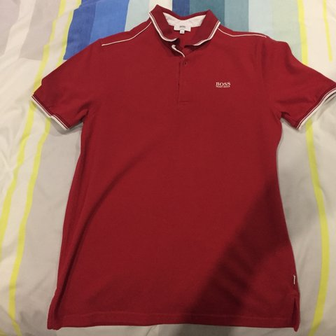 60b6c985c046c @hussainnatha. 10 months ago. London, United Kingdom. Hugo Boss Junior Red  Short Sleeve Polo Shirt ...