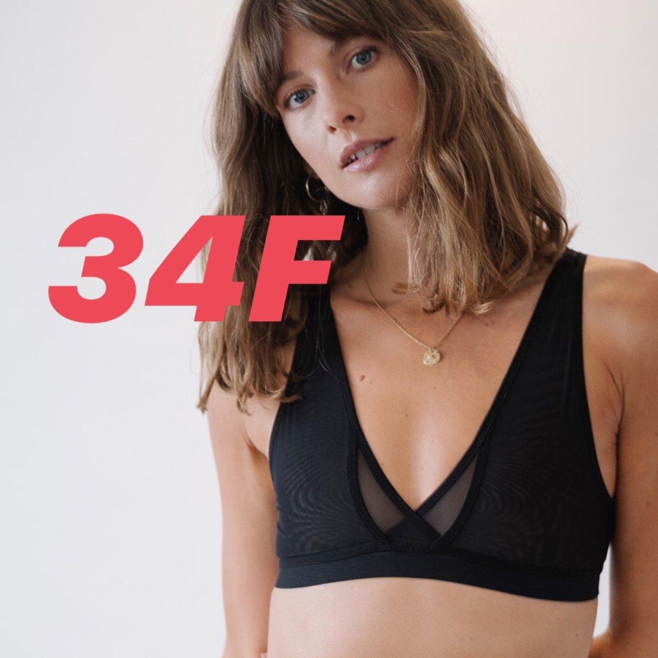 a8a856bd22 WREN BRA - BLACK - 34F This wireless mesh bra is made from - Depop