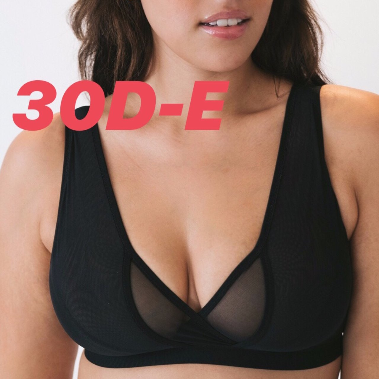 c67b440e54 WREN BRA - BLACK - 34F This wireless mesh bra is made from a - Depop