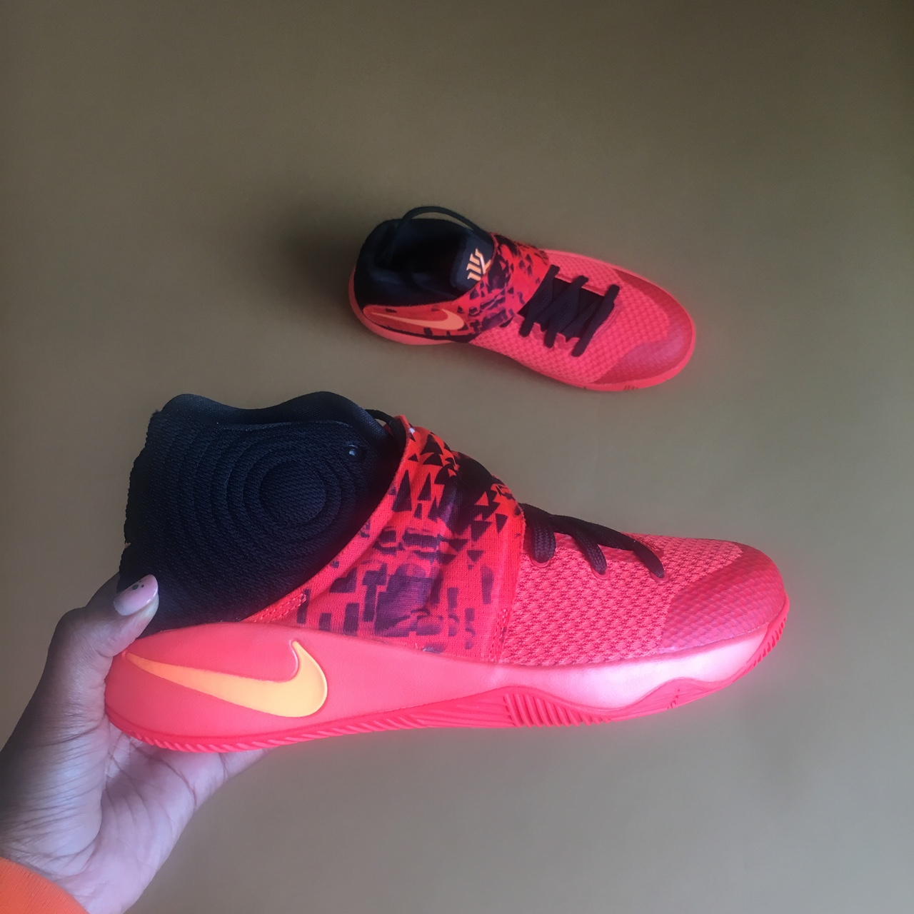 "various colors 2fb70 2e876 Nike Kyrie 2 ""Inferno"" Sneaker Size: 6.5 Youth or 8... - Depop"