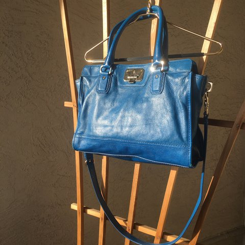 48a134a7fb @carotky. last year. Alameda, CA, USA. Royal blue cole haan shoulder tote  purse