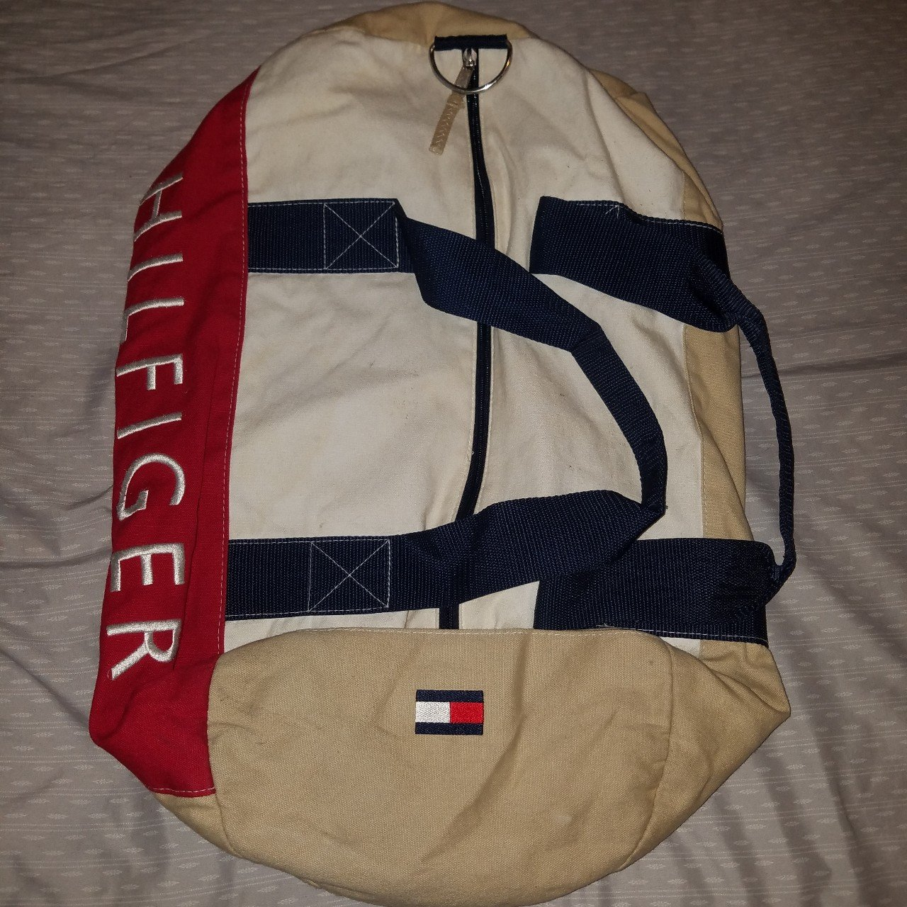72290f14d2 Shoptagr   Tommy Hilfiger Duffle Beach Bag Comes With The Shoulder ...