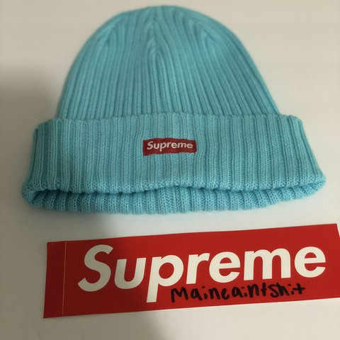 35ab2f55 PRICE DROP As of 3/1/18 Supreme overdyed ribbed beanie ice - Depop