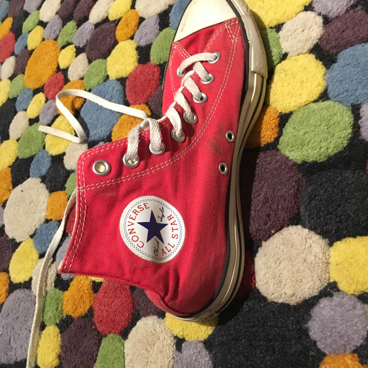 Red High top converse all star by Chuck Taylor. Depop