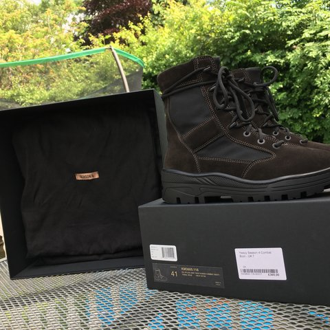 58d04bc521bfd YEEZY season 4 combat boots in oil colourway. Size EU 41 UK7 - Depop