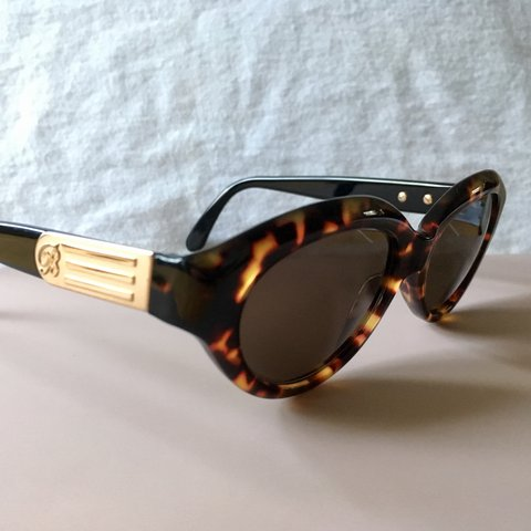 bb6dc1a82f Original Vintage sunglasses from Blumarine. The frame is the - Depop