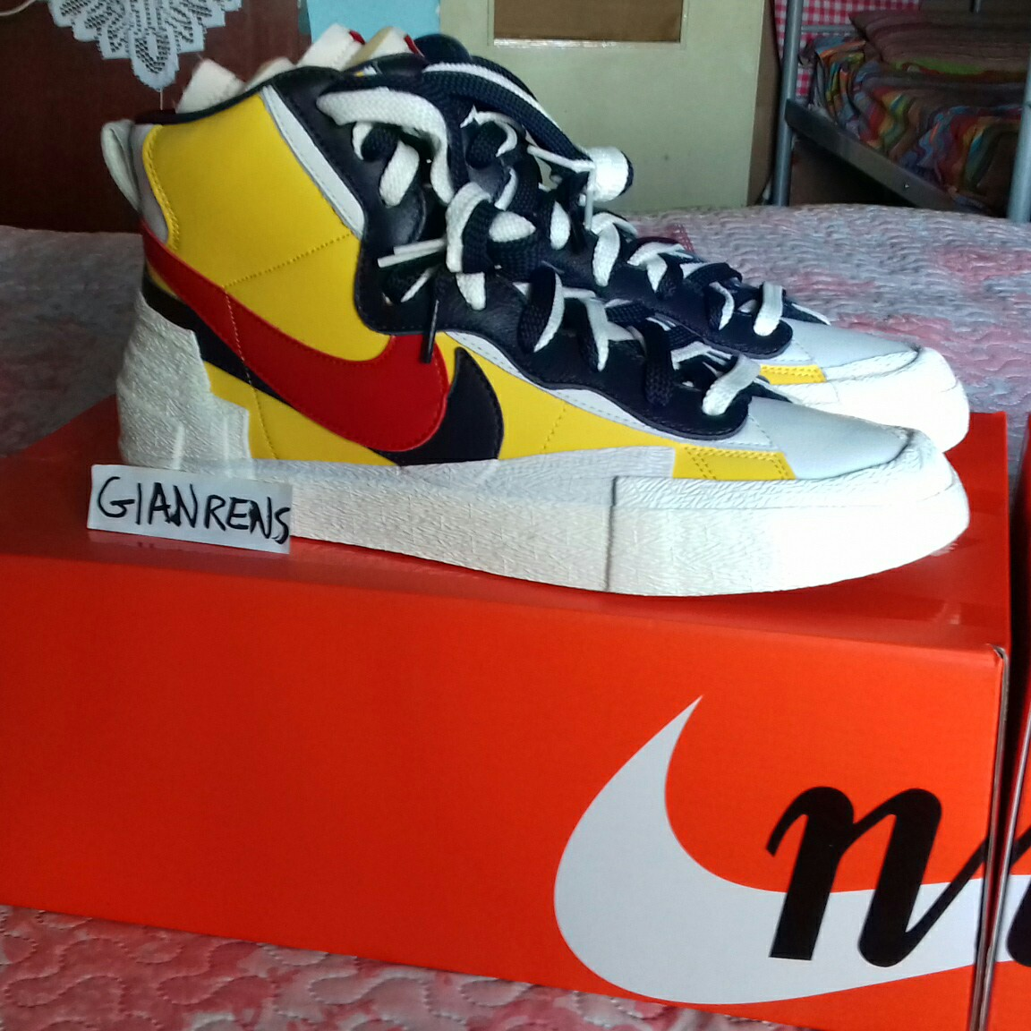 meet 45ec4 c9cf1 Nike Blazer High sacai Snow Beach Price💸: 250€ meet... - Depop
