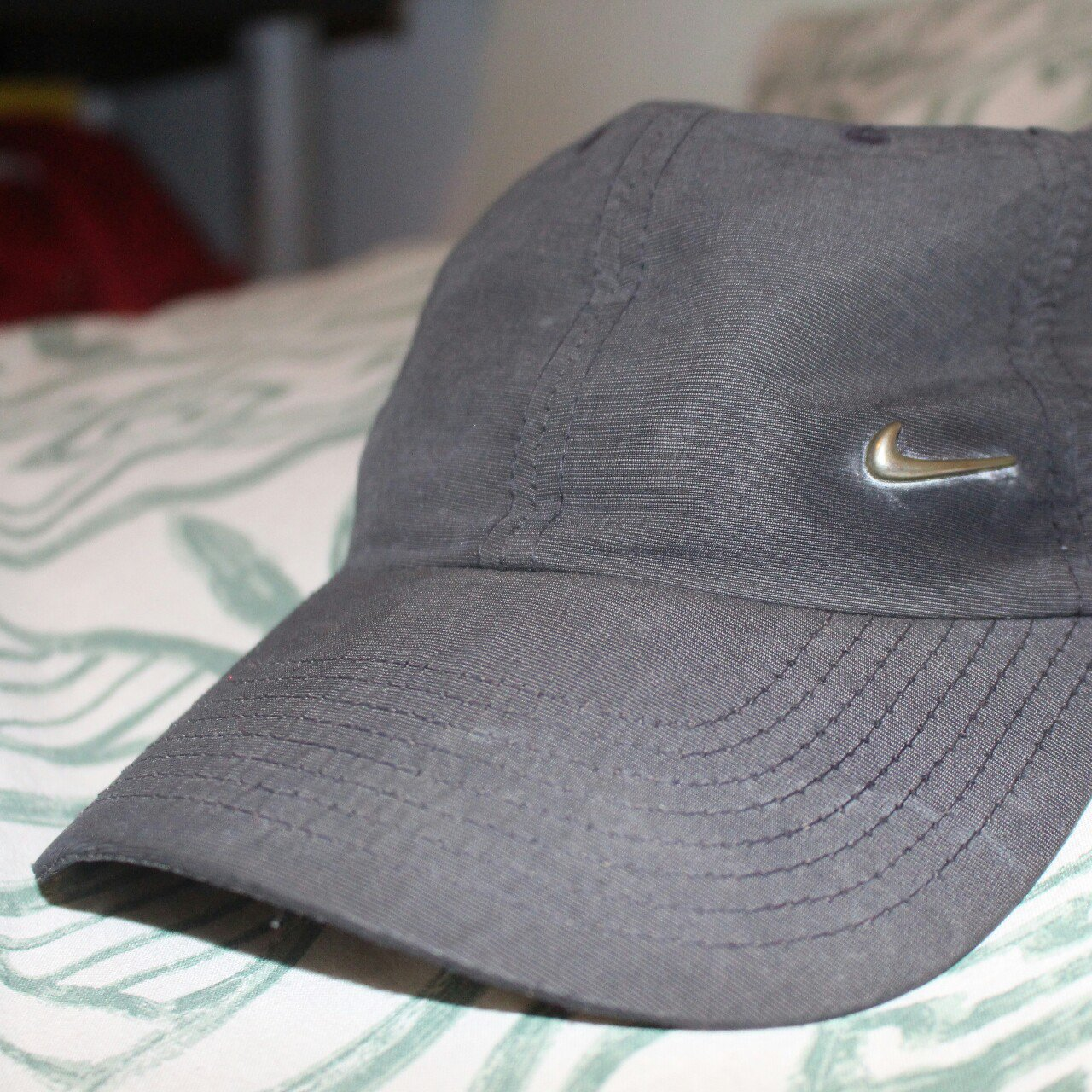 Nike baseball cap hat black one size Pretty good condition. - Depop 720930f3052
