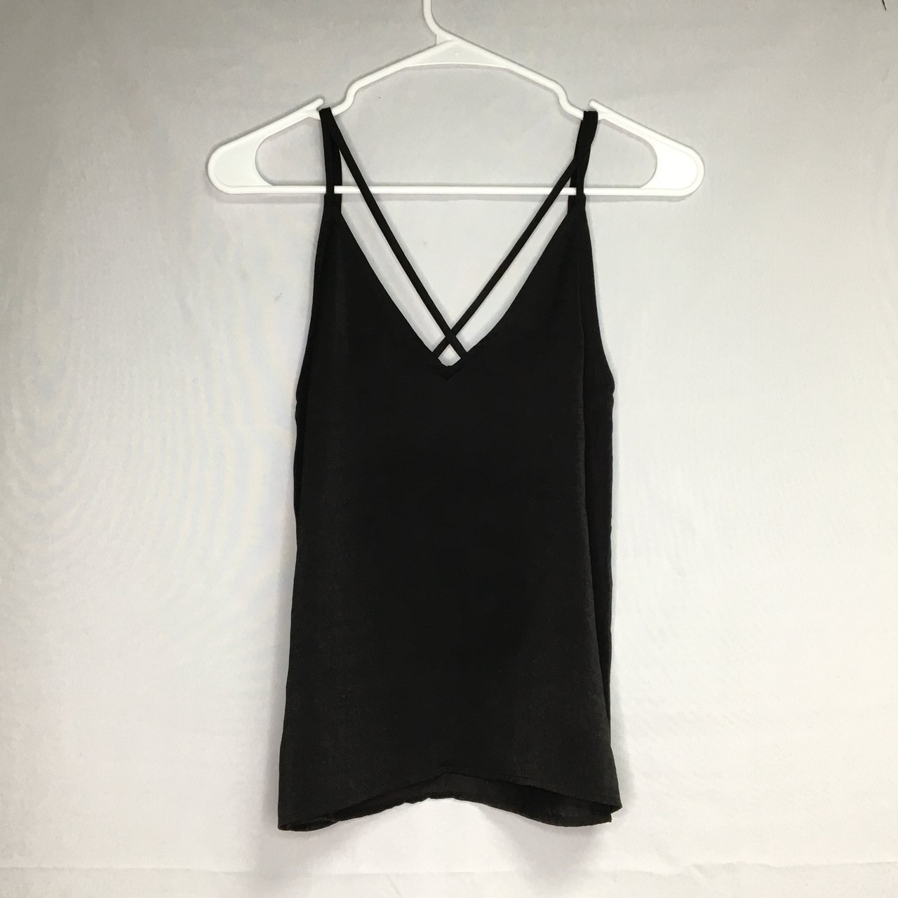 dbe0339922270 H&M black tank top. The straps form an X in the back. It's a - Depop