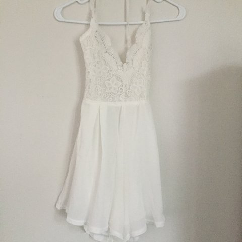 981ee4f6ee32 amazingly cute lace romper -white -kind of see through(I - Depop