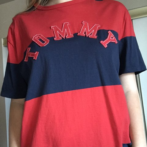 74f09cf2 @cuteclothes4you. 11 days ago. United States. Tommy Hilfiger red and blue T- shirt, brand new ...