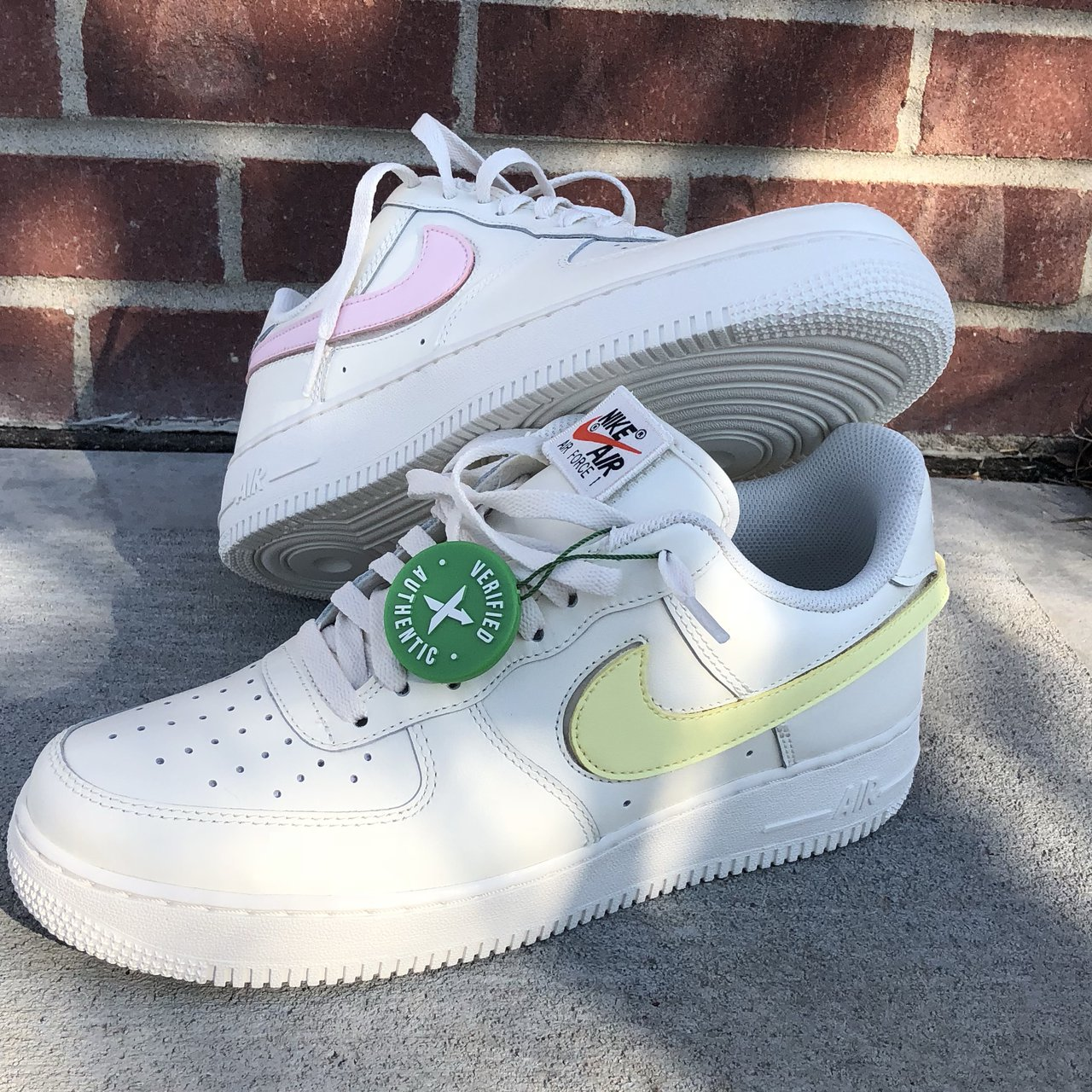 e88769058dc7 Nike Air Force 1 swoosh pack sail. Deadstock bought from so - Depop