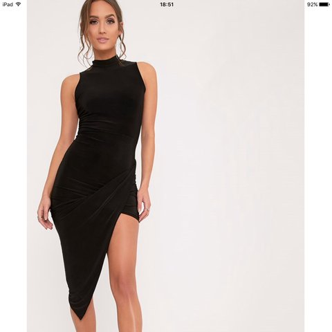 4e65c1ef11f0 @paige12xx. 2 years ago. Birmingham, United Kingdom. Black slinky  PrettyLittleThing dress. Size 8