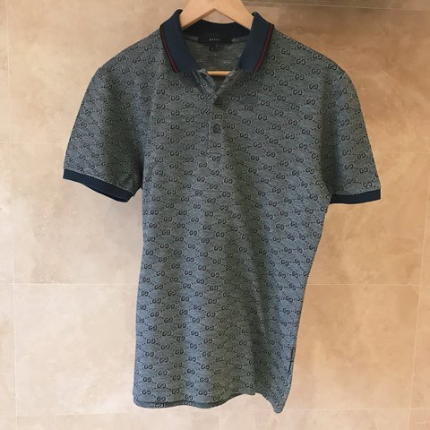 44ab2b952030 Gucci polo in grey, size large. 100% authentic, worn once in - Depop