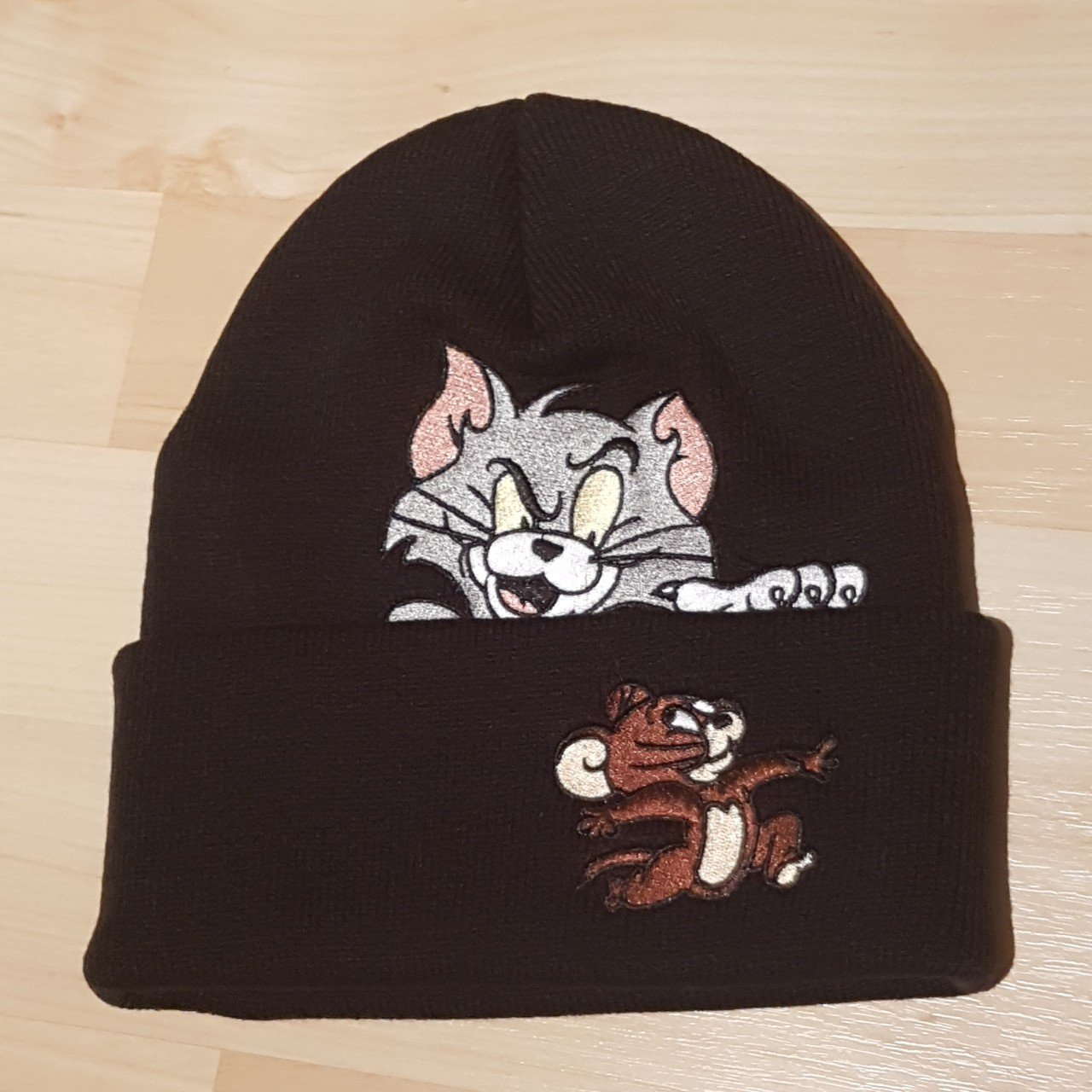 4f24edee8dd Supreme Tom and Jerry beanie black new without tags - Depop