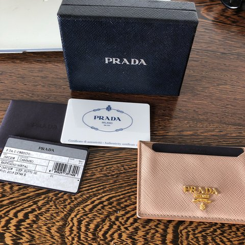 db5fe6e4105d @isadoux. last year. London, United Kingdom. Authentic Pre-loved Prada  saffiano card holder ...