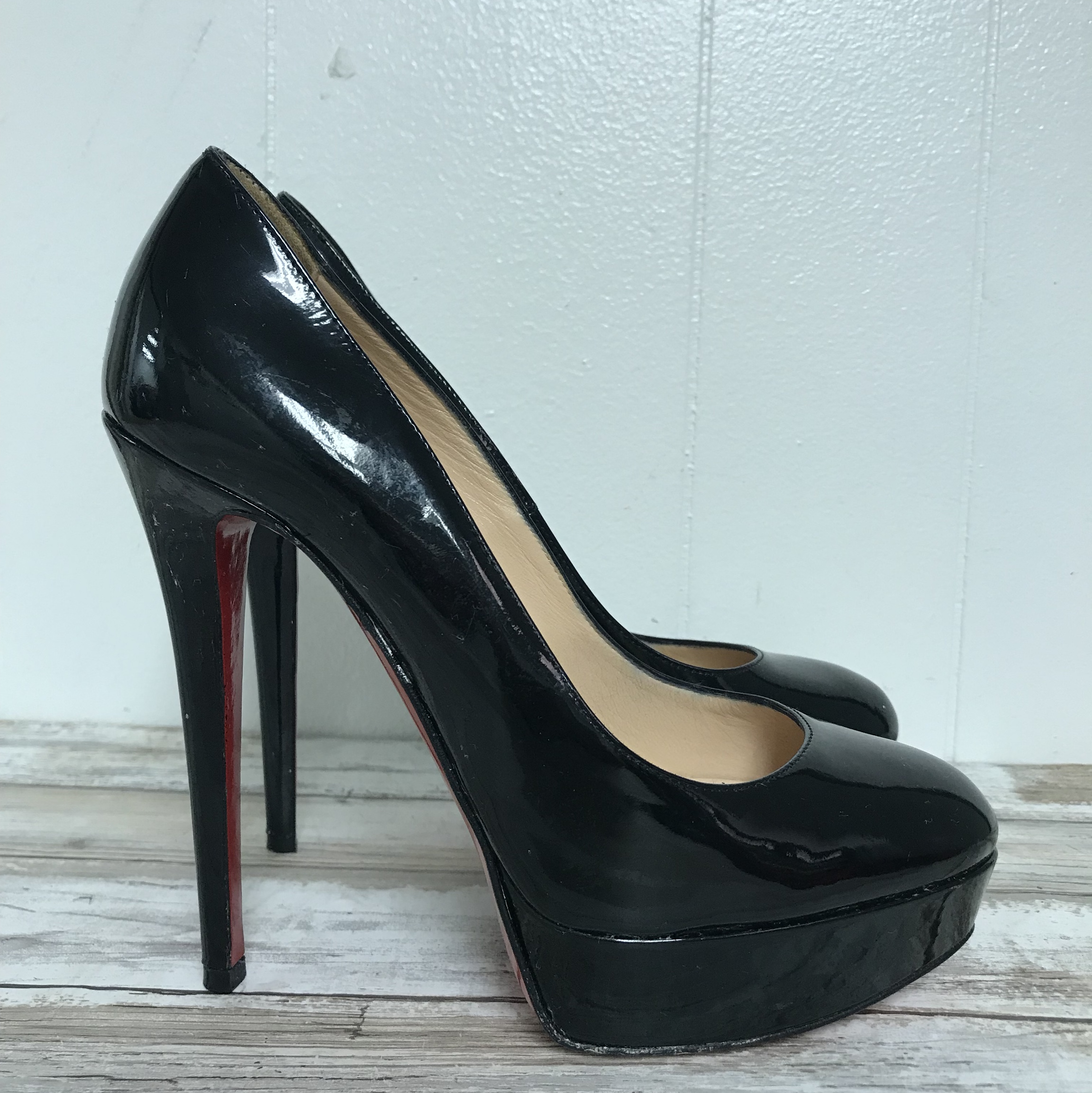 finest selection 8ed80 a714a CHRISTIAN LOUBOUTIN BIANCA BLACK PLATFORM ...