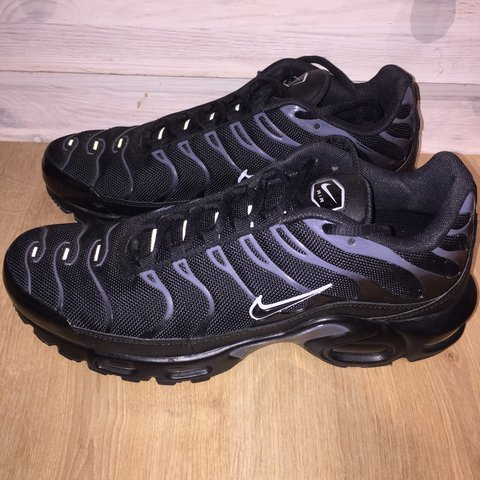 Nike Air Max Plus TN Tuned 1 Black Pure Platinum Condition - Depop 3f11d3e02