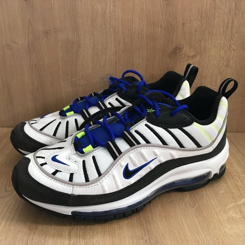 official photos bac0c 955ce  esgetit. 11 months ago. Adelboden, Schweiz. Nike AIR MAX 98. White Black-Racer  Blue-Volt