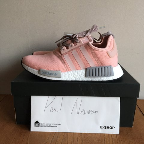 295ca2742 Adidas NMD R1 OFFICE OFFSPRING EXCLUSIVE Vapour Pink Clear 5 - Depop