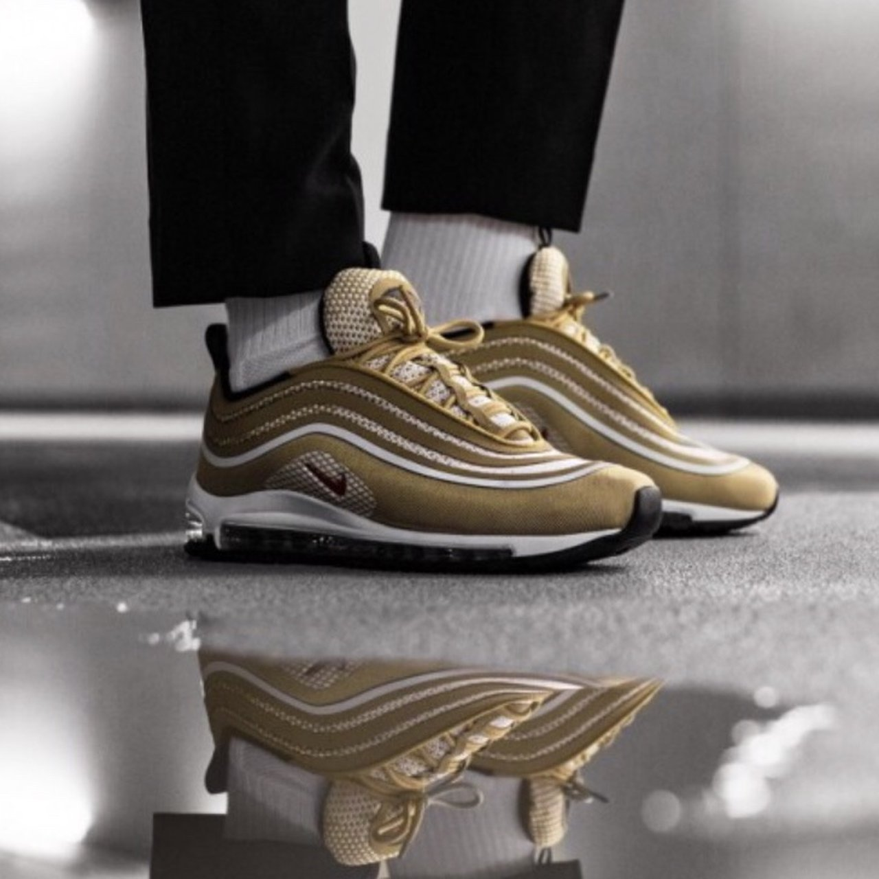 Nike Air Max 97 Ultra  17 Trainer - Metallic Gold Size UK 10 - Depop 7394cdad585e